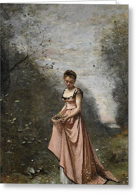 Youthful Greeting Cards - Springtime of Life Greeting Card by Jean Baptiste Camille Corot