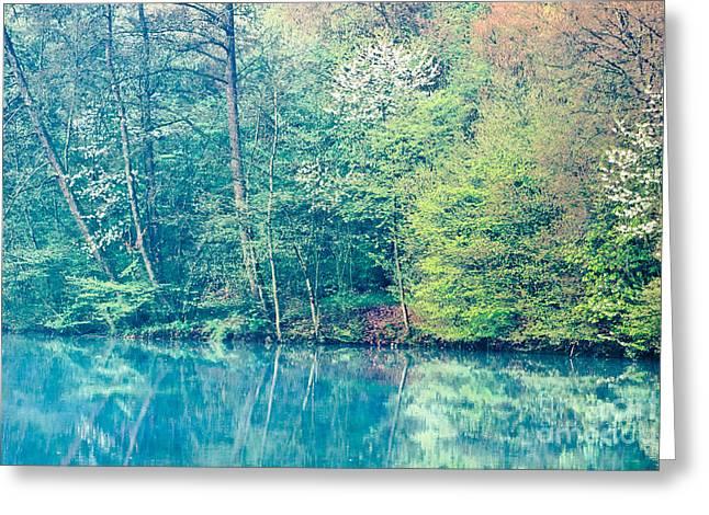 Bavaria Greeting Cards - Springtime Reflection Greeting Card by Alexander Kunz