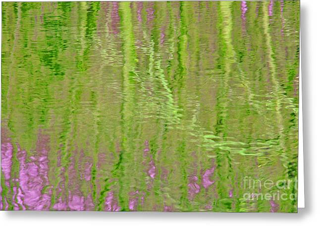 Springtime Reflections Greeting Card by Cindy Lee Longhini