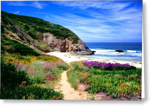 Danae Paintings Greeting Cards - Springtime Trail Greeting Card by Cliff Wassmann
