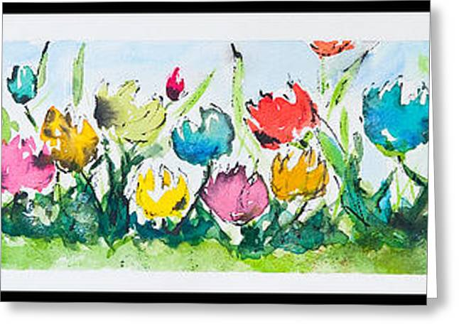 Loose Greeting Cards - Springtime Tulips Greeting Card by Wendy Ray