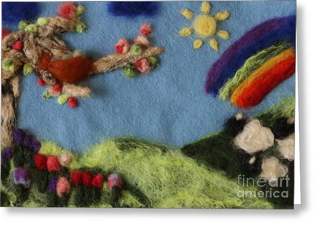 Spring Tapestries - Textiles Greeting Cards - Springtime Wonder Greeting Card by Shakti Chionis