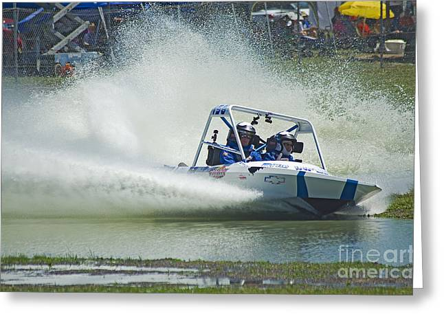 Time Trials Greeting Cards - Sprint Boat Racing Greeting Card by Nick  Boren