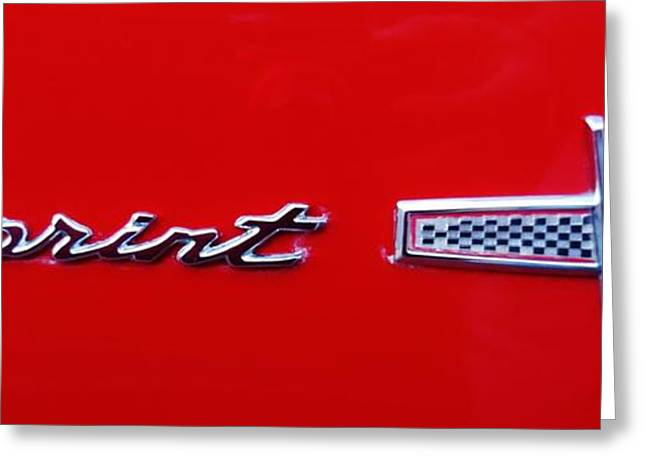 Ford Sprints Greeting Cards - Sprint V8 Greeting Card by Mark Lemmon