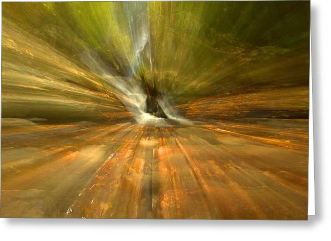 Unique Art Greeting Cards - Spruce Flats Falls Explosion Greeting Card by Dan Sproul
