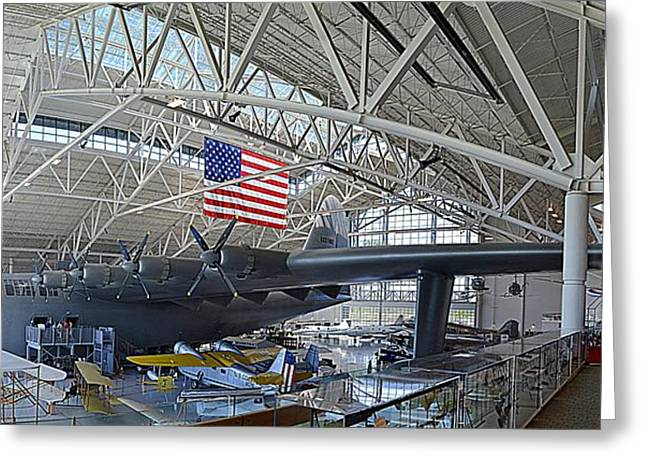 American Airways Greeting Cards - Spruce Goose Greeting Card by Michelle Calkins