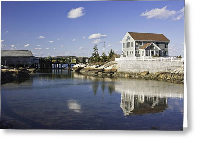 New England Ocean Greeting Cards - Spruce Head on The Coast Of Maine Greeting Card by Keith Webber Jr