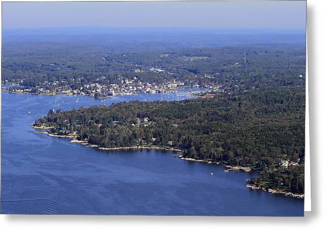 Maine Landscape Greeting Cards - Spruce Point, Boothbay Harbor, Maine Greeting Card by Dave Cleaveland