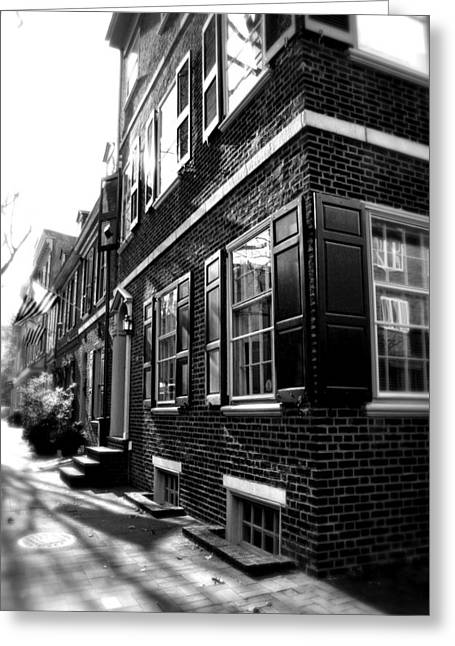 Row Homes Greeting Cards - Spruce Street Greeting Card by Michelle Sheppard