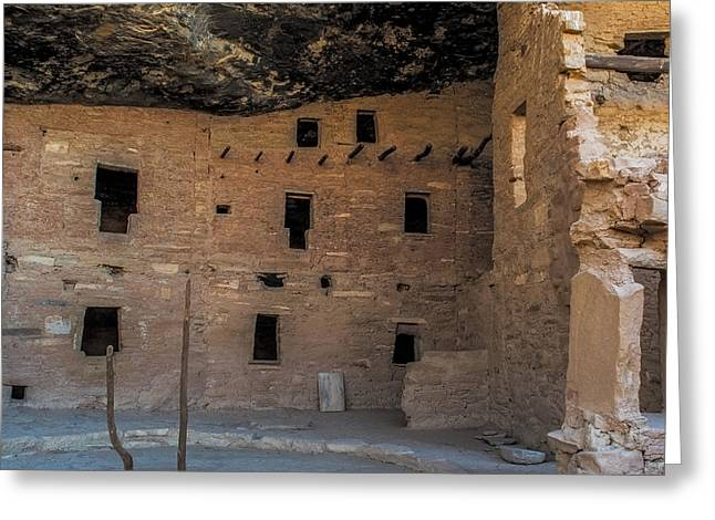 Ancient People Greeting Cards - Spruce Tree House Windows Greeting Card by Paul Freidlund