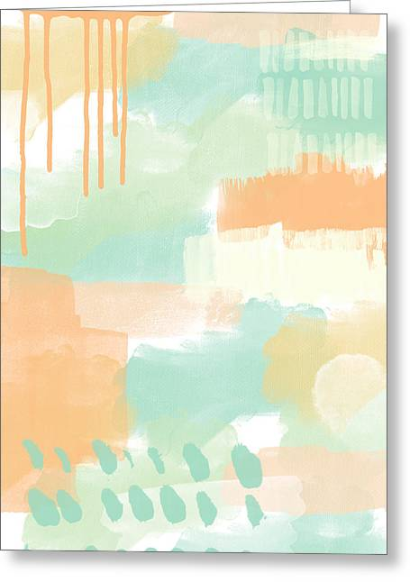 Kitchen Wall Greeting Cards - Spumoni 2- abstract painting Greeting Card by Linda Woods