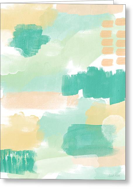 Hipster Greeting Cards - Spumoni- Abstract Painting Greeting Card by Linda Woods