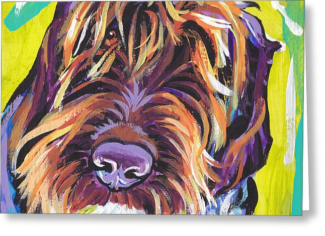 Puppies Paintings Greeting Cards - Spumoni Spinone Greeting Card by Lea