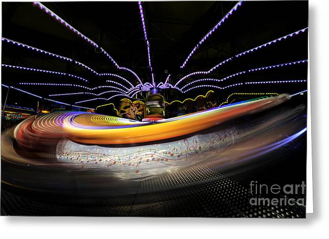 Rotate Greeting Cards - Spun Out 2 Greeting Card by Ray Warren