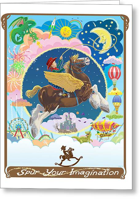 Spur Your Imagination Greeting Card by J L Meadows