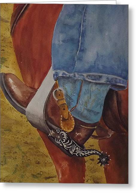 Fancy Boots Greeting Cards - Spurs Greeting Card by Gary Thomas