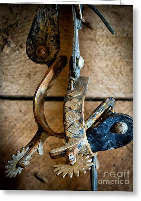 Spur Greeting Cards - Spurs on wall Greeting Card by Inge Johnsson