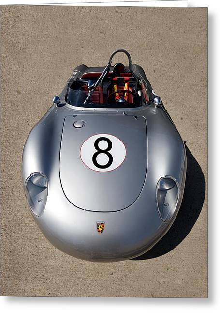 German Race Car Greeting Cards - Spyder Race Car Greeting Card by Peter Tellone