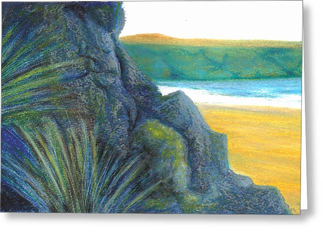 Ireland Pastels Greeting Cards - Spying The Silver Strand Greeting Card by Jim Ditto