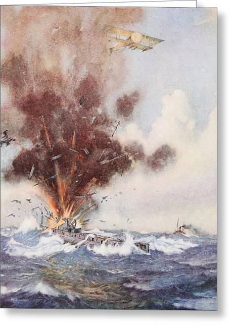 North Sea Drawings Greeting Cards - Squadron-commander A.w. Bigsworth Greeting Card by Joseph Harold Swanwick