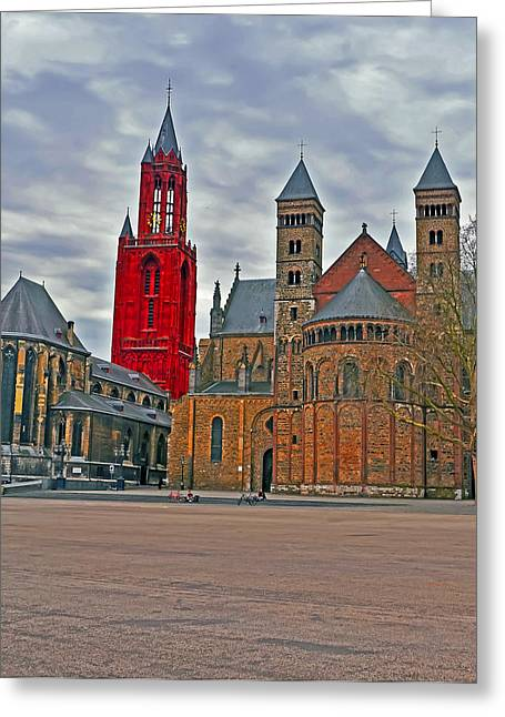 The Church Greeting Cards - Square of Maastricht Greeting Card by Elvis Vaughn