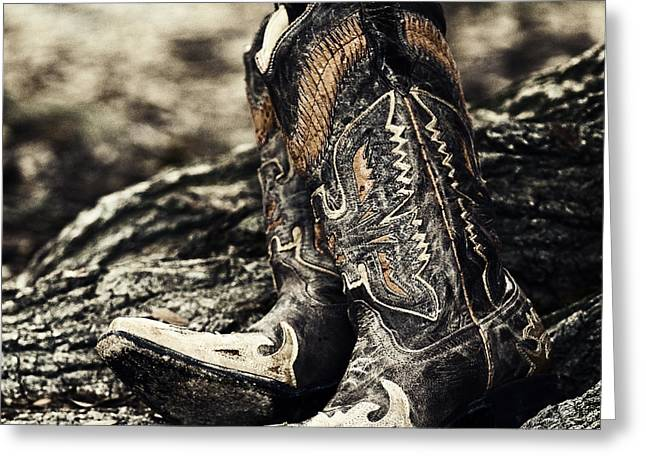 Boots Greeting Cards - Square Toes Greeting Card by Scott Pellegrin