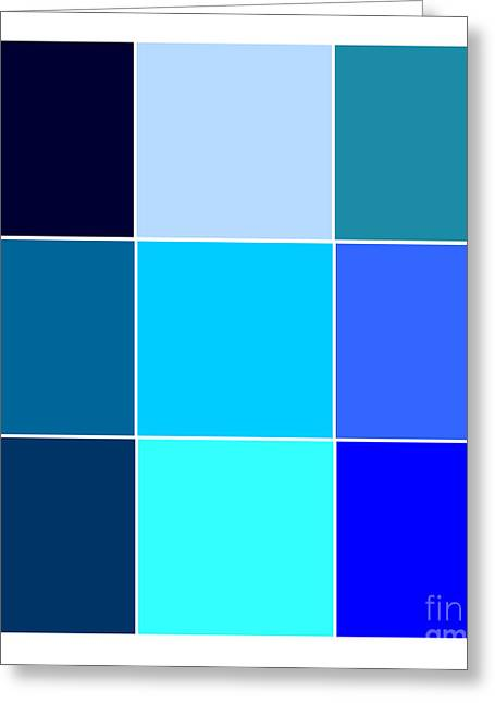 Digital Styles Greeting Cards - Squares - Blue Greeting Card by Celestial Images