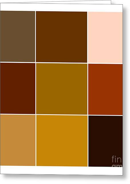 Digital Styles Greeting Cards - Squares - Brown Greeting Card by Celestial Images