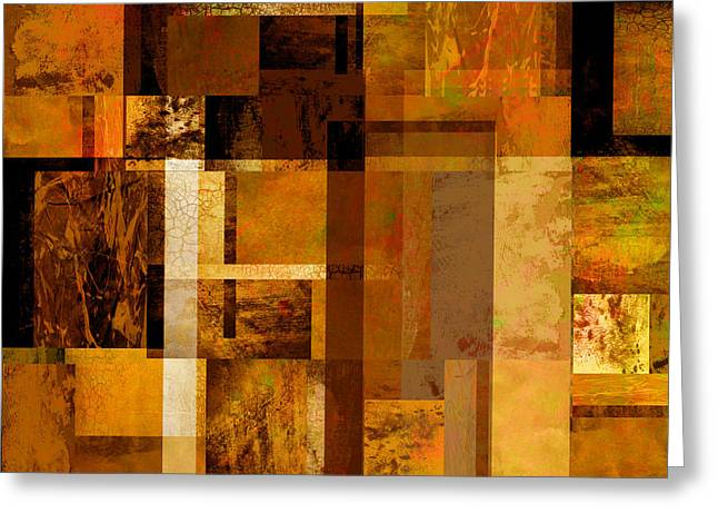 Ann Powell Art Greeting Cards - Squares and Rectangles Greeting Card by Ann Powell