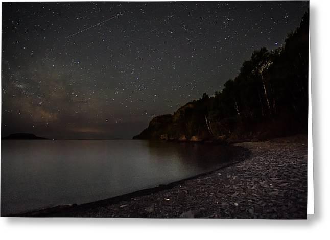 Beach Road Greeting Cards - Squaw bay at midnight Greeting Card by Jakub Sisak