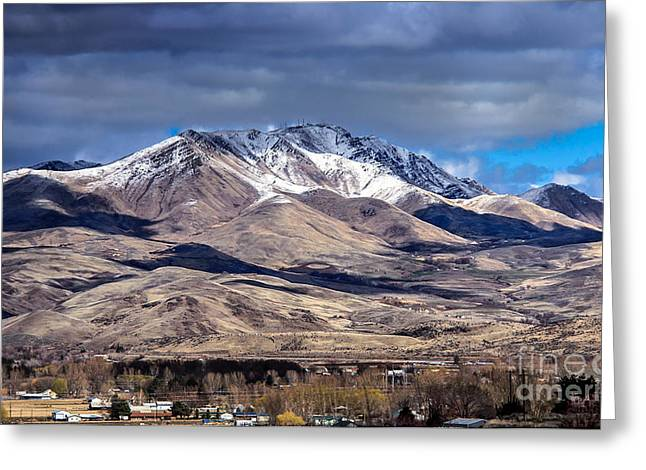 The Butte Greeting Cards - Squaw Butte Greeting Card by Robert Bales