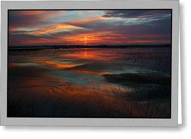 Fishing Creek Greeting Cards - Squaw Creek Sunset Greeting Card by Thomas Bomstad