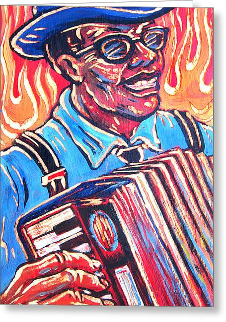 Ponz Greeting Cards - Squeezebox Blues Greeting Card by Robert Ponzio
