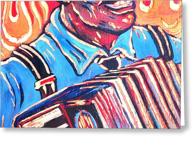 Squeezebox Blues Greeting Card by Robert Ponzio