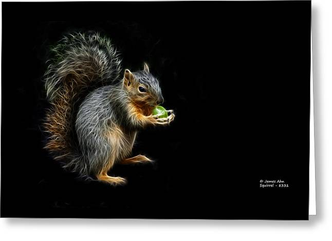 Squirrel - 8331 - F Greeting Card by James Ahn