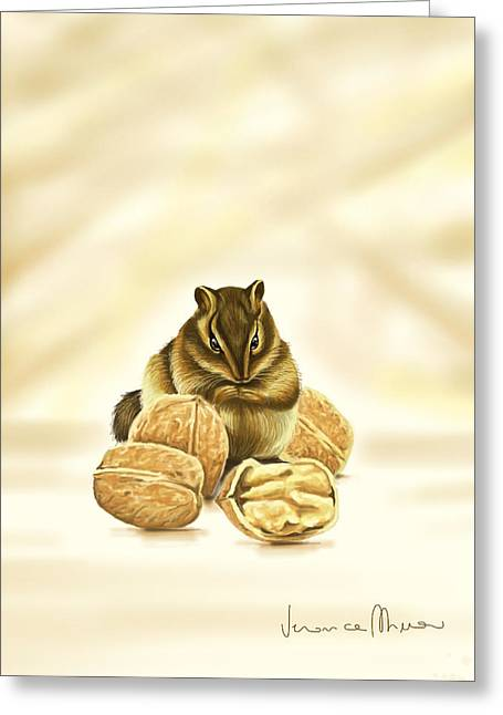 Squirrels Greeting Cards - Squirrel Greeting Card by Veronica Minozzi