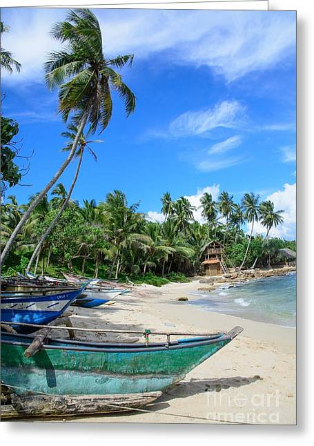 Southern Province Greeting Cards - Sri Lankan boats Greeting Card by Christina Rahm