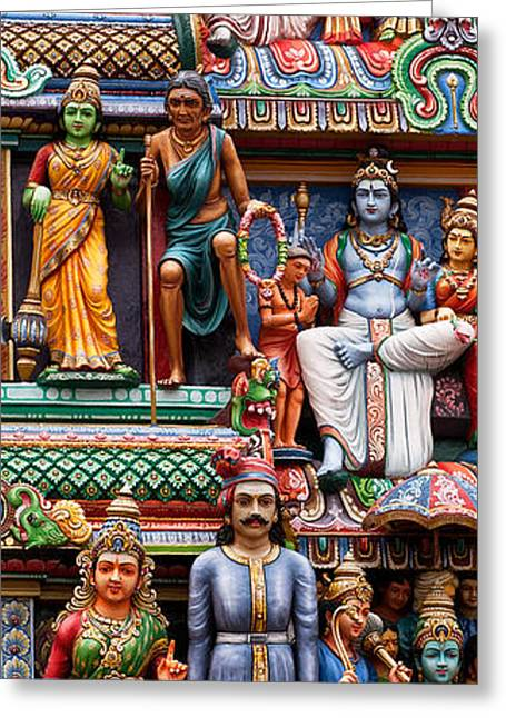 Southeast Asian Greeting Cards - Sri Mariamman Temple 03 Greeting Card by Rick Piper Photography
