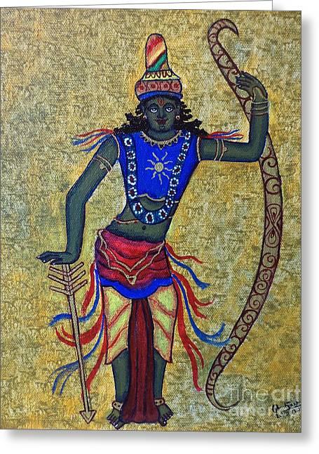 Incarnation Greeting Cards - Sri Rama Greeting Card by Pratyasha Nithin