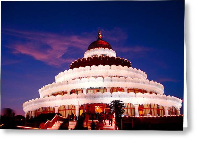 Indian Guru Greeting Cards - Sri Sri Ravi Shankar ashram india Greeting Card by Sumit Mehndiratta