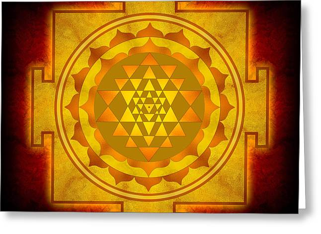 Hinduism Greeting Cards - Sri Yantra Greeting Card by Dirk Czarnota