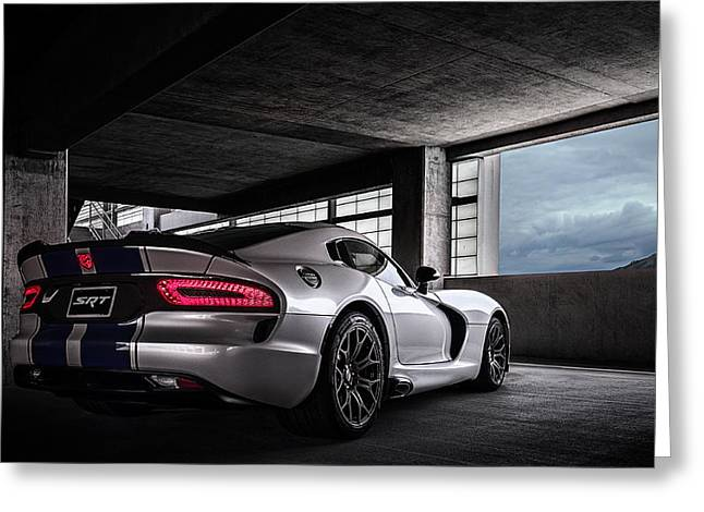 Car Shows Greeting Cards - SRT Viper Greeting Card by Douglas Pittman