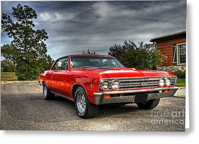 Ss Greeting Cards - SS 396 Chevelle Greeting Card by Tim Wilson