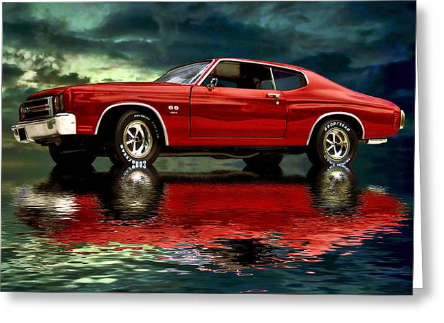Steven Agius Greeting Cards - Chevelle 454 Greeting Card by Steven Agius