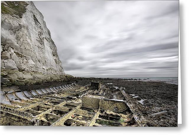 Ship-wreck Greeting Cards - SS falcon Greeting Card by Ian Hufton