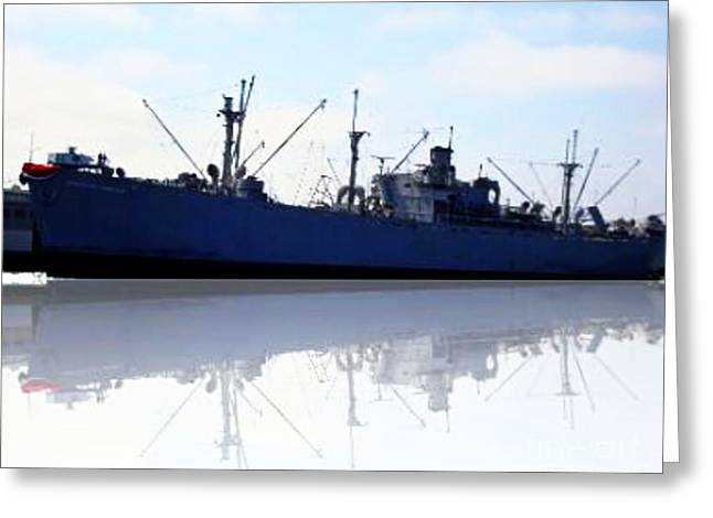 Jeremiah Mixed Media Greeting Cards - SS Jeremiah O Brien Greeting Card by Withintensity  Touch