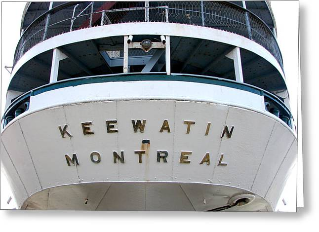 Porthole Greeting Cards - S.S. Keewatin Stern Greeting Card by Michelle Calkins