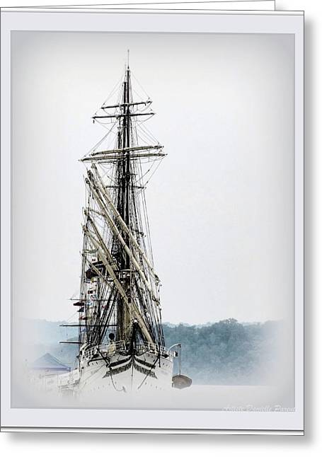 Hamilton-class Greeting Cards - Ss Sorlandet Norwegian Tallship Greeting Card by Danielle  Parent