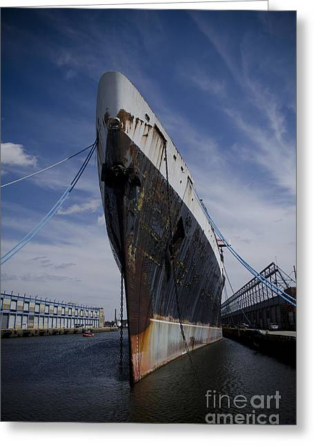 Trans-atlantic Greeting Cards - SS United States by Jessica Berlin Greeting Card by Jessica Berlin