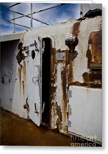 Ss United States Rusted Door Greeting Card by Jessica Berlin